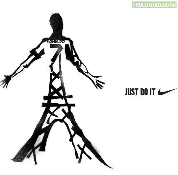 Nike have turned Cristiano into the Eiffel Tower ...