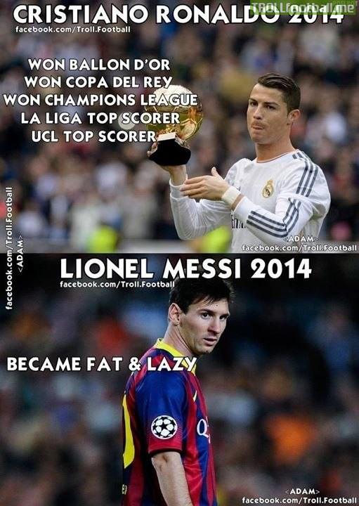 Ronaldo vs Messi in 2014 | Troll Football