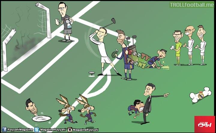Cartoon:Real Madrid  3-1 Barcelona
