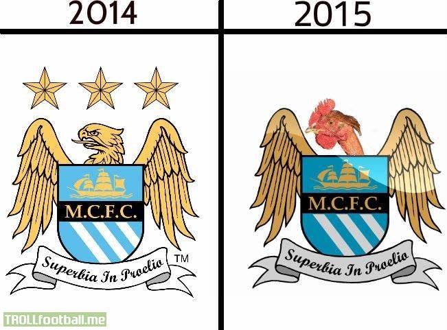 Barcelona Vs Man City Logo: Manchester City FC New Logo For 2015