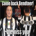 Juventus fans after Bendtner left