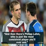 Lionel Messi on Philip Lahm