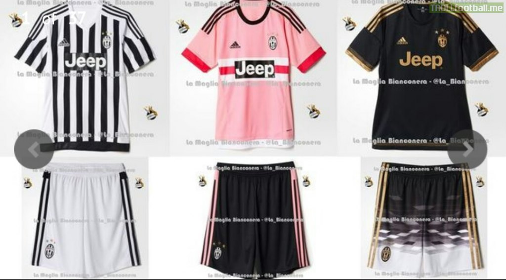 cheap for discount 3e6ff 0f96a Adidas leak all three Juventus kits for the 2015/16 Serie A ...