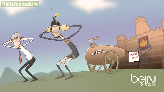 Cartoon: Arsenal VS West Ham