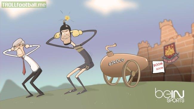Cartoon: Arsenal VS West Ham