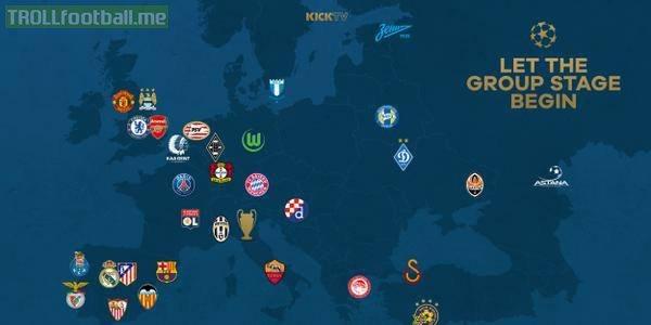 uefa champions league 16 teams