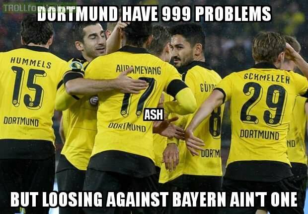 Ft Dortmund 0 0 Bayern Troll Football