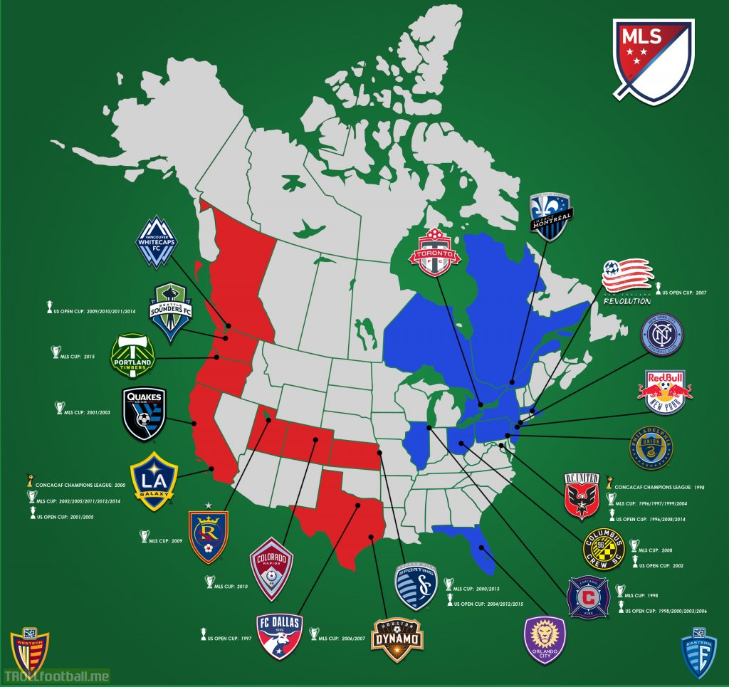 Mls By Map NEW MLS Map. Canada's fix. How embarrassing | Troll Football Mls By Map