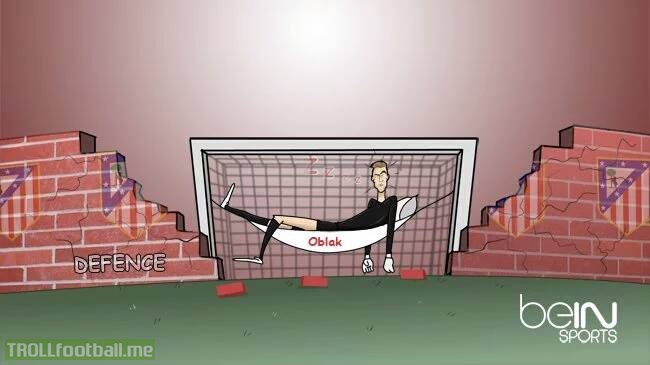 Atletico Madrid's defence injuries leave Oblak exposed .