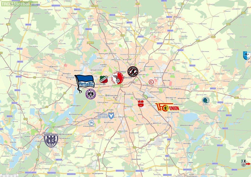 Football Maps of Dublin, Lisbon, New York, Santiago de Chile, etc.