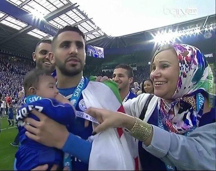 Riyadh Mahrez and his family ❤