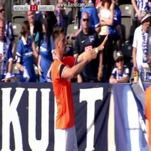 Sandro Wagners (SV Darmstadt 98) game winning goal against Hertha BSC