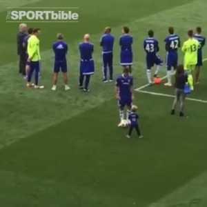 Eden Hazard kicks his son post-match [no red card]