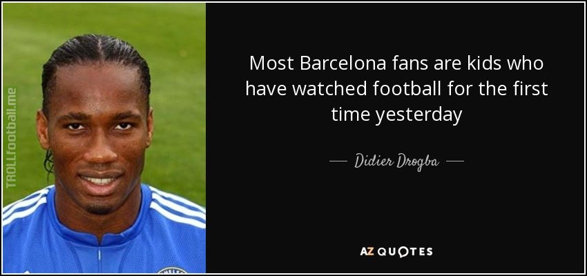 Throwback to when this legend trolled Barca fans