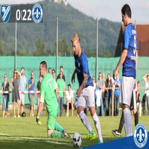 Bundesliga side Darmstadt defeated Hahnlein by a score of 22-0 in a friendly today