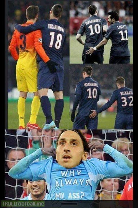 Everyone wants a bit of Zlatan!!!