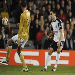 Clint Dempsey (of Fulham) a decade ago v Juventus in the Europa League