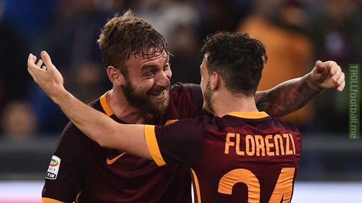 Daniele De Rossi waited with Alessandro Florenzi's family until 4am to hear the results of the scan on his left knee. What a guy! Respect and get well soon, Florenzi 👏