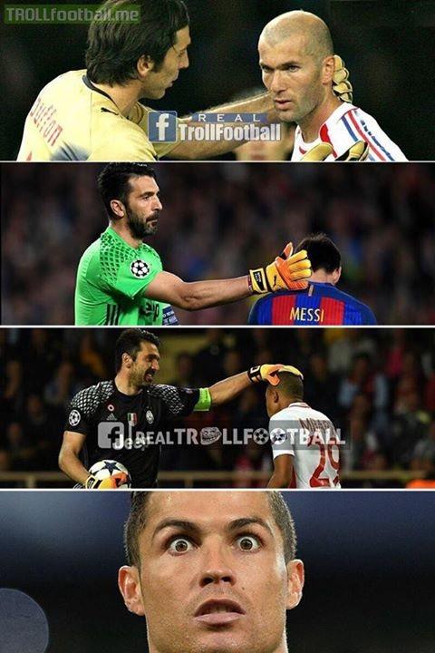 نتيجة بحث الصور عن Ronaldo, Buffon and Kabali