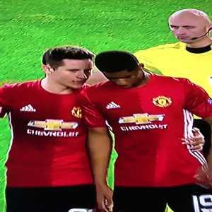 "Rashford ""Shh, are you the ref?"""