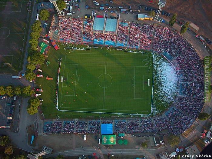 Masywnie One of a kind, crooked-U-shaped stadium in Szczecin, Poland AL64