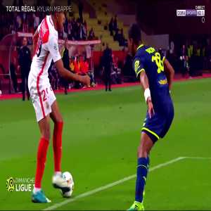 Compilation of Mbappé's best skills this season from french tv show on Bein Sport