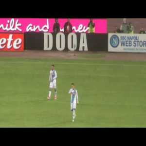 Dries Mertens second goal vs Fiorentina (tunnel & no look pass) from the stands, including Hamsik sostitution.