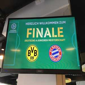 23.000 tickets have been sold for the U19 league final between BVB and Bayern, new record for the U19 games [Sport1]