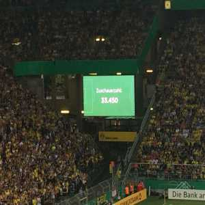 33.450 fans watching the BVB-Bayern U19 game. New record for the U19!