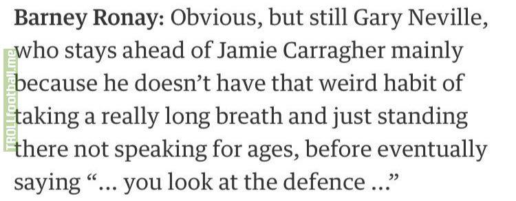 Barney Ronay on Jamie Carragher's punditry