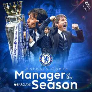 Conte is named Barclays Premier League Manager of the Season!
