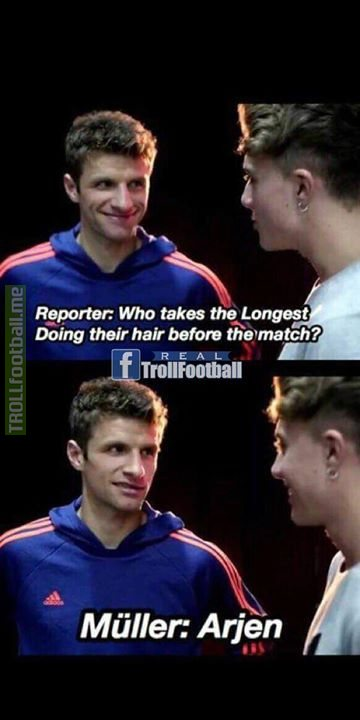 Thomas Muller is a savage😂😂