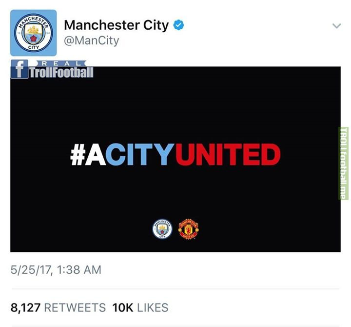 Touch of class from Manchester City. 🔵🔴👏