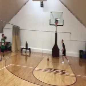 Antoine Griezmann showing off his basketball skills