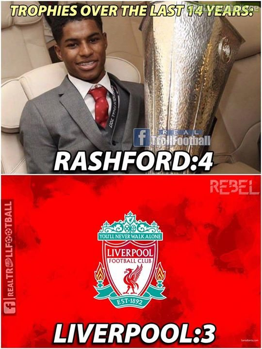 Rashford made his debut a year ago...tag a Liverpool FC fan
