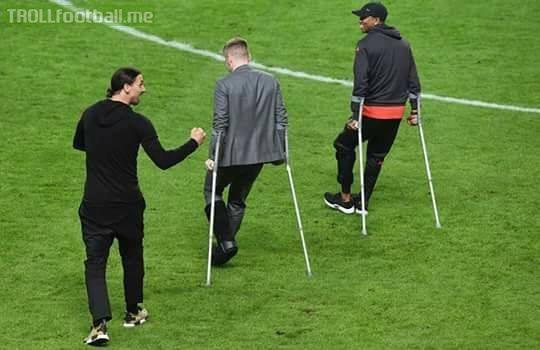 Zlatan doesn't need crutches.