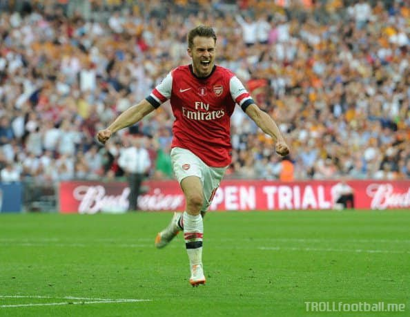 Aaron Ramsey has now scored two winners in two FA Cup finals. Frank