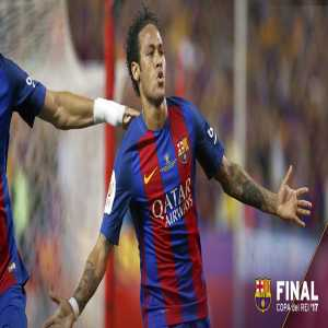 Neymar managed to score in 3 Copa del Rey finals in a row, something that didn't happen since 1961/1962