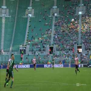 Pawełek (WKS Śląsk Wrocław) double save vs Cracovia in Polish Ekstraklasa