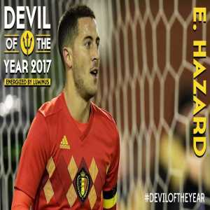 Eden Hazard wins the Belgium Player of The Year.