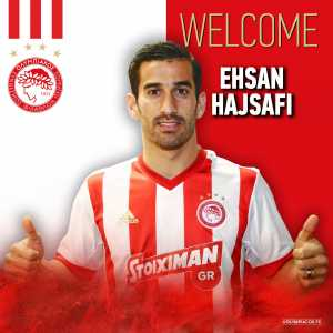 Olympiakos announce the acquisition of Iranian left-back Ehsan Hajsafi from Panionios.