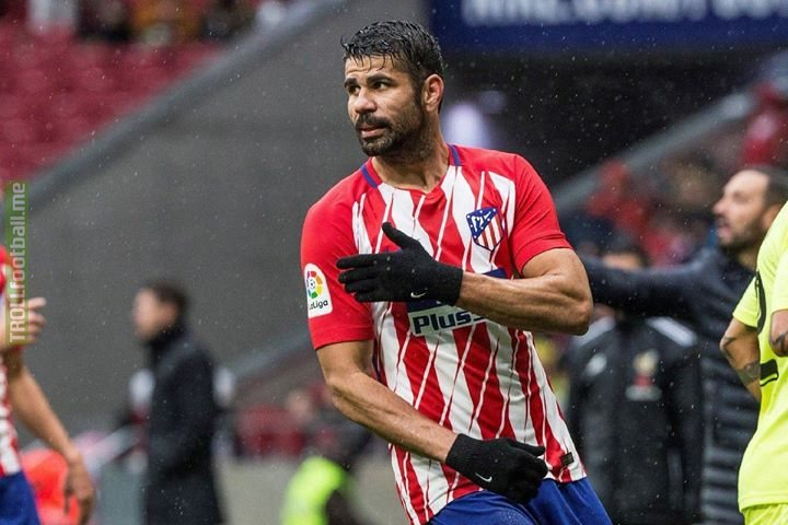 🔴⚪️ Diego Costa's first start since resigning for Atletico Madrid: ⏰ 62nd Min: Booked for an Elbow 💥 ⏰ 68th Min: Scores ⚽️ ⏰ 68th Min: Second Yellow for jumping into the crowd whilst celebrating. 😳 😂 Welcome back Diego 🤦‍♂️