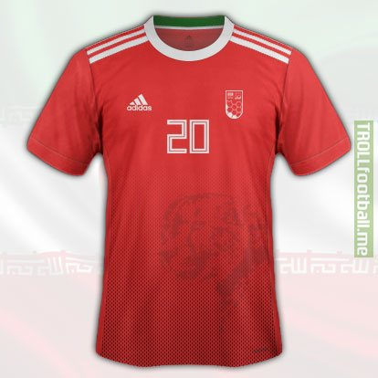 IRAN 2nd Kit World Cup 2018 Concept Kit
