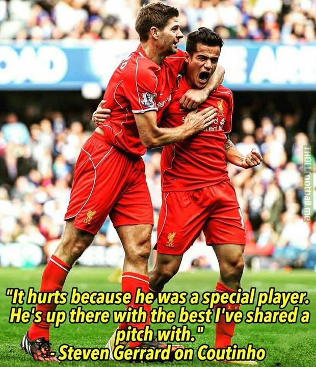 Gerrard on Coutinho😃Frank