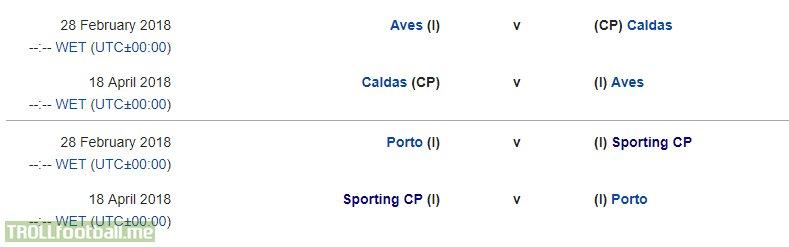 Taça de Portugal semi-finals draw