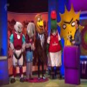 "The teams on ""The Big Fat Quiz"" have to guess the names of the mascots"