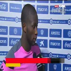 """Levante's Jefferson Lerma here accusing Iago Aspas of calling him a """"black shit"""" during today's early game."""