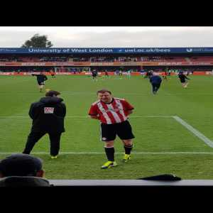Brentford fans paid to make their friend a mascot as part of his stag do. He walked onto the pitch with the players and the children. He's 40.
