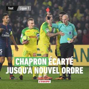 Tony Chaperon suspended. French ref who tried to trip a player during a game is suspended until the federation takes a decision.