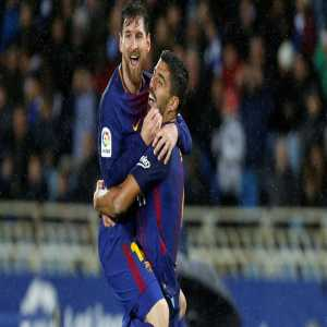 Messi (17) and Suárez (13) have scored 30 goals in total in the league. Only the duo formed by Cavani (19) and Neymar (11) equals them in Europe